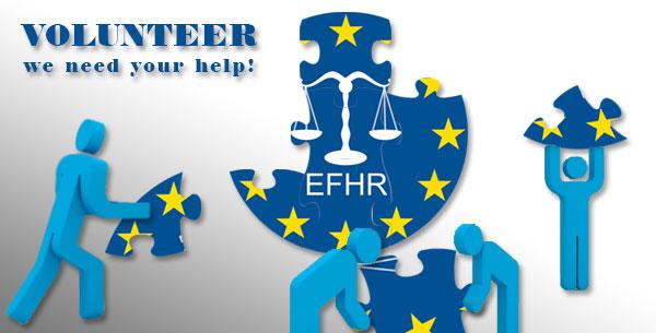 EFHR kviečia savanoriauti arba atlikti praktiką