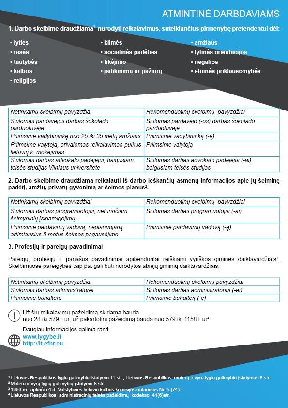 Diskriminaciniai darbuotojų atrankos kriterijai – naujausi įspėjimai darbdaviams