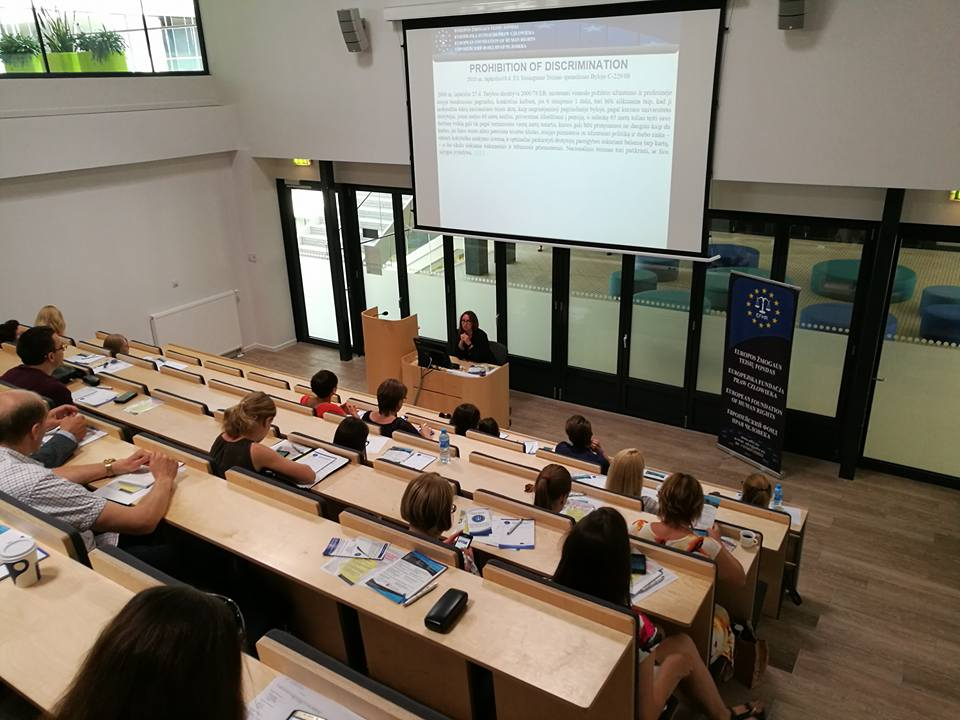 """Įvyko EFHR mokymai:  """"Tarptautinės ir Europos Sąjungos teisės taikymas diskriminacijos bylose Lietuvoje"""""""